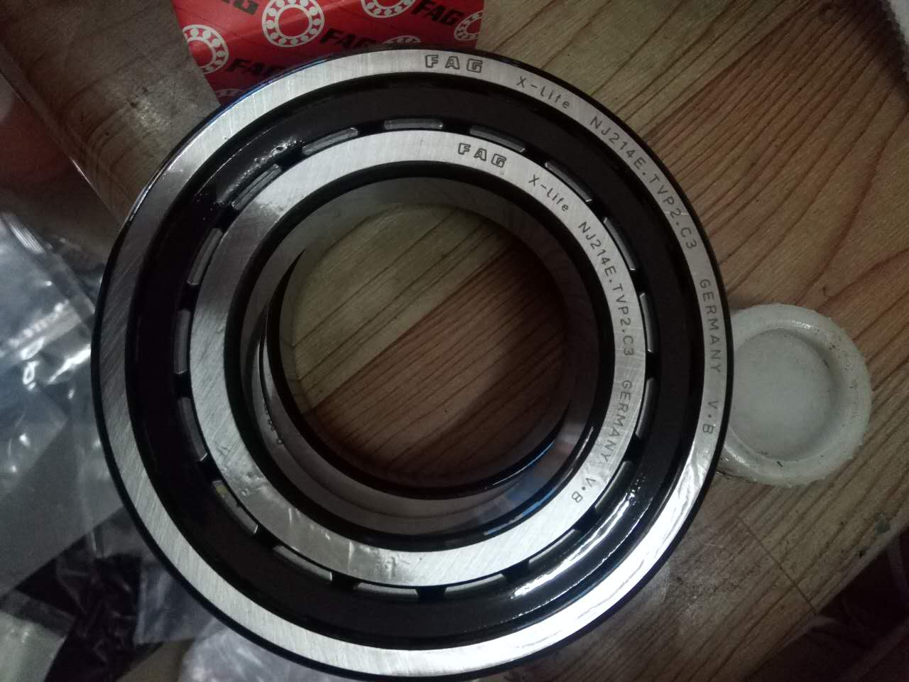 NJ214E M1 C3 German FAG cylindrical roller bearing power plant machinery parts