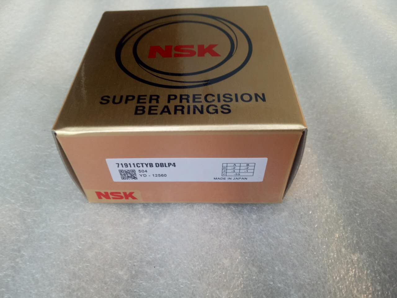 NSK Angular Contact Ball Bearings 7911 Ball Bearing 71911C Sizes 55*80*13 mm
