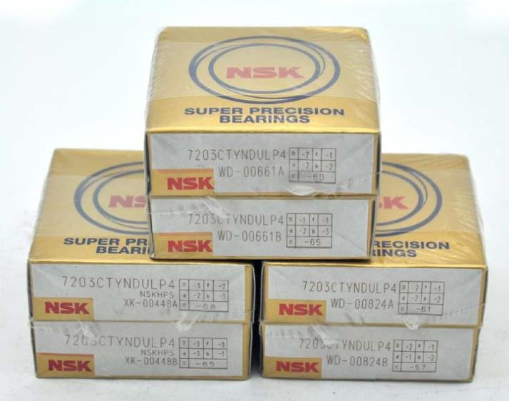 Original Japan NSK angular contact ball bearing 7203CTYNDULP4 for machine tool spindle